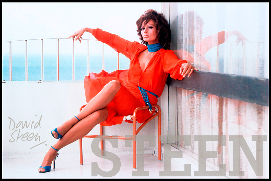Sofia Loren | RARE CELEBRITY PHOTOGRAPHIC PRINTS BY DAVID STEEN